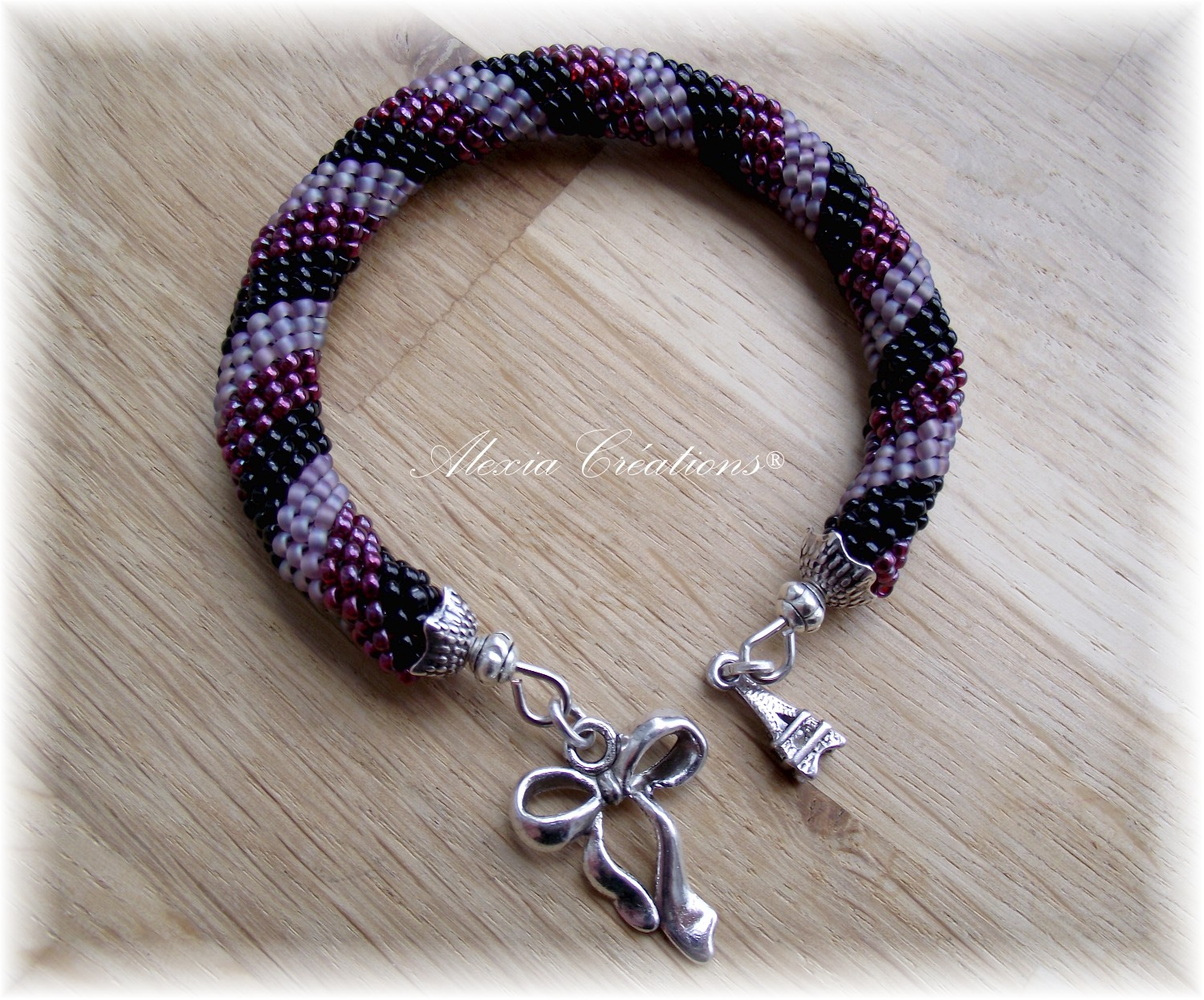 Bracelet spirale peyote - Peyote with a twist