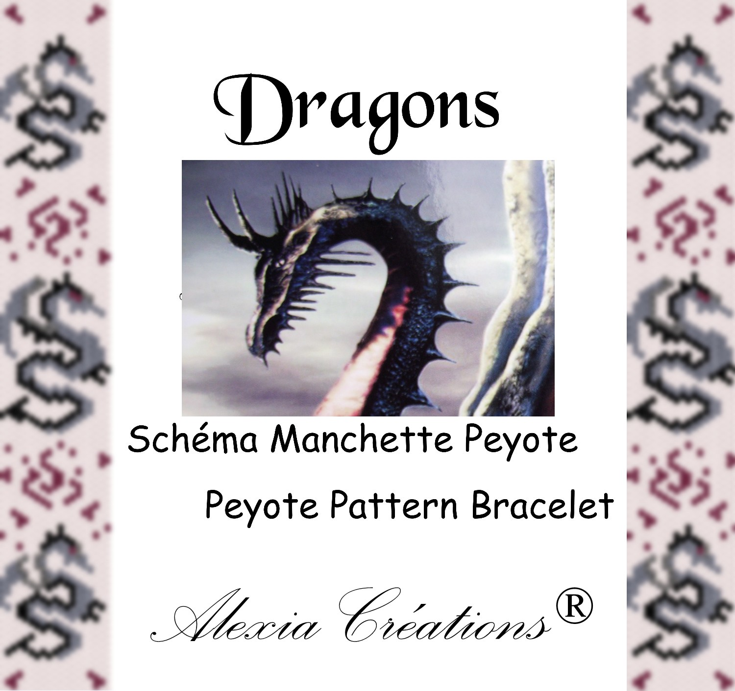 Manchette peyote Dragons