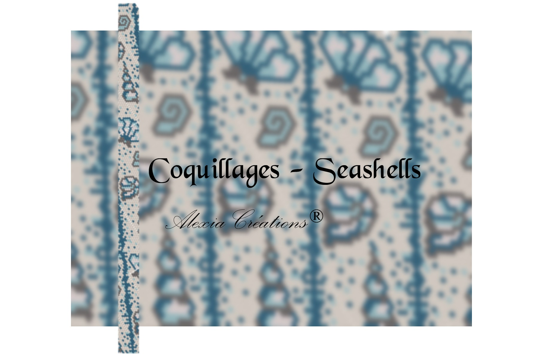 Peyote with a twist - not crochet. Schéma Coquillages - Seashells pattern