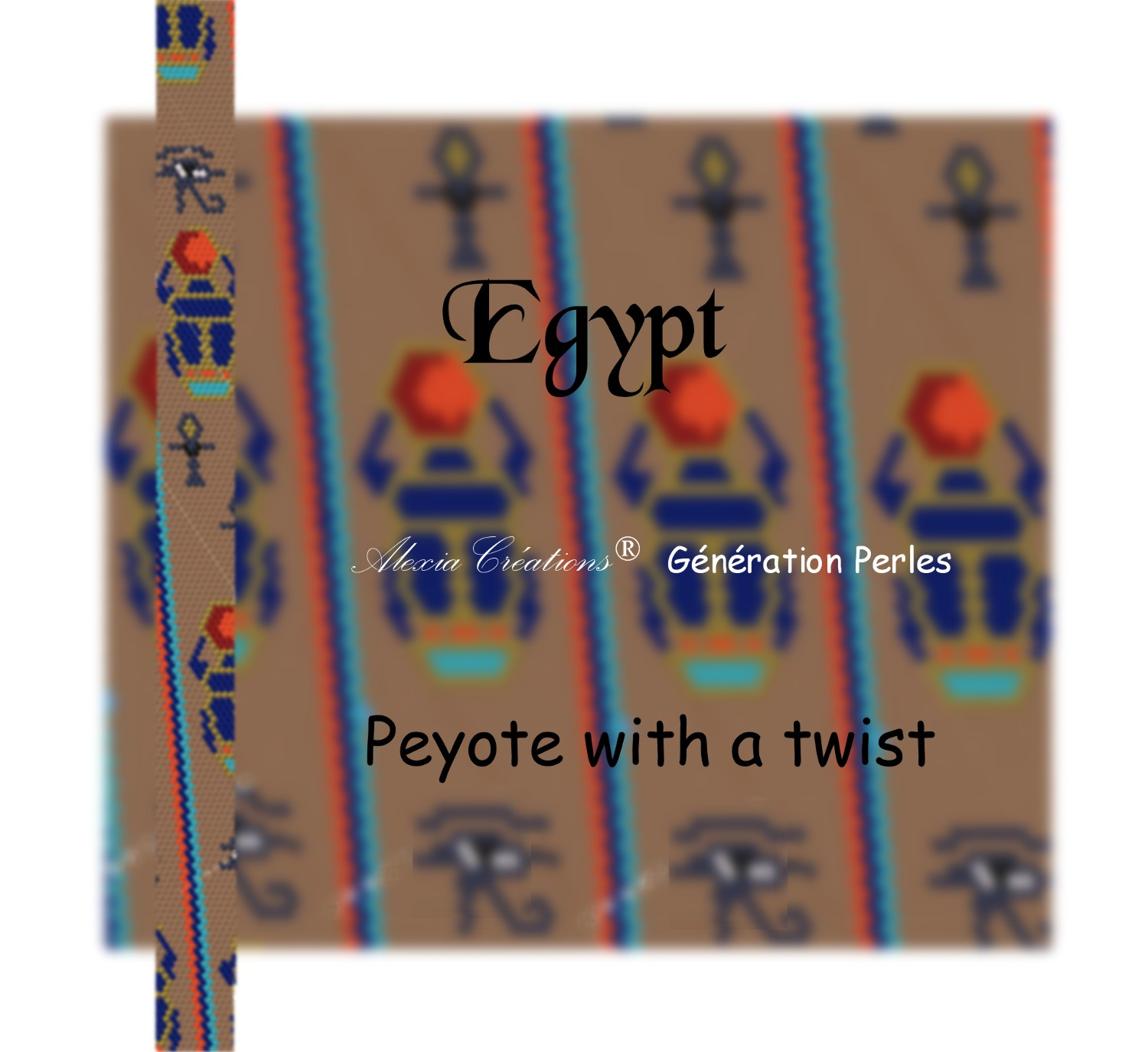 Peyote with a twist - not crochet.  Schéma Egypte