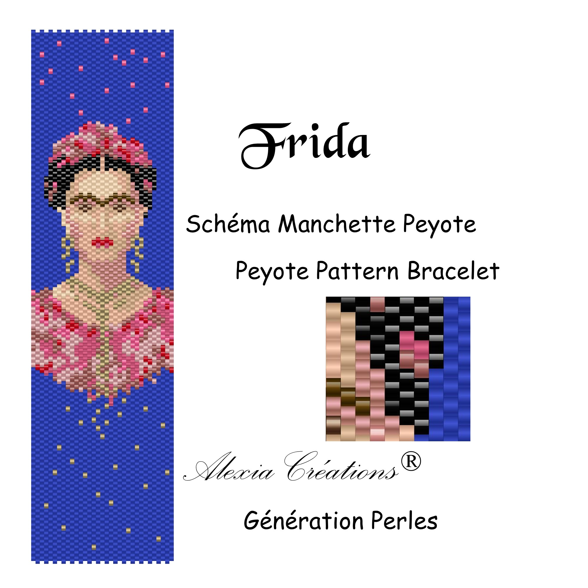 Manchette peyote impair Frida