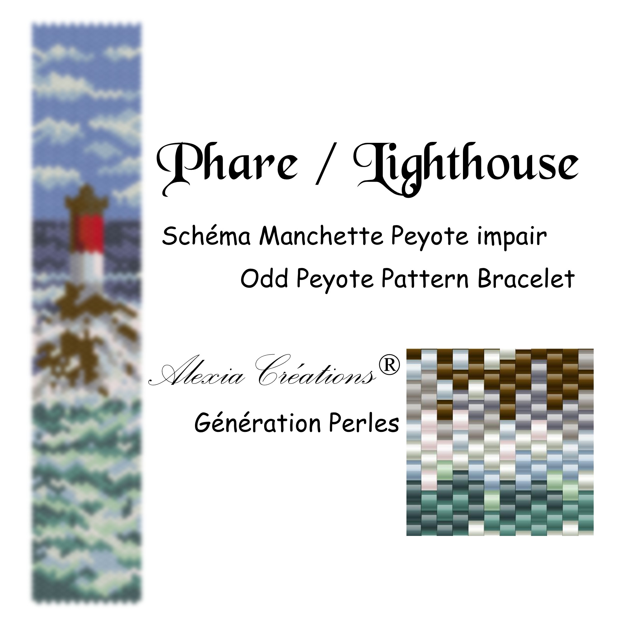 Manchette peyote impair Phare