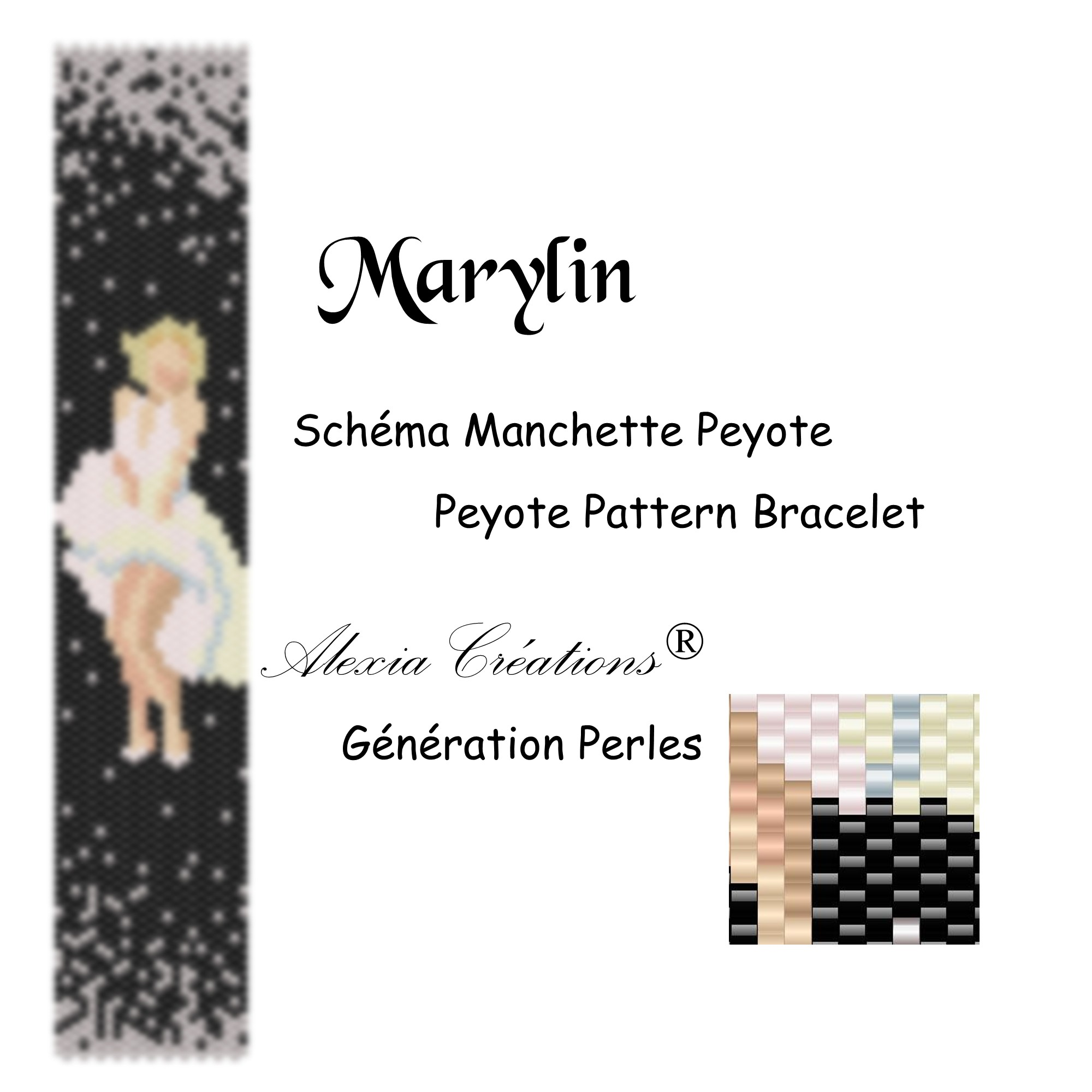 Manchette peyote impair Maryllin