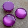 Zoomer sur Rond 18mm dos plat. Style polaris, purple