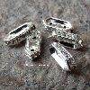 Zoomer sur Barrette strass 11x4,5mm. Crystal sur silver